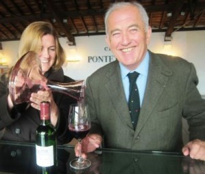 Alfred and Melanie Tesseron Pontet Canet 300x255 Alfred Tesseron of Pontet Canet buys Robin Williams Napa Vineyard