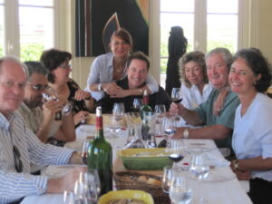 Becot lunch 21 300x225 Blind tasting at Pavie, dinner with Juliette Becot in St. Emilion