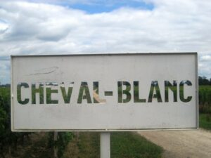 Cheval Blanc sign 300x225 2009 Cheval Blanc St. Emilion Bordeaux wine, puts Cheval back on Top