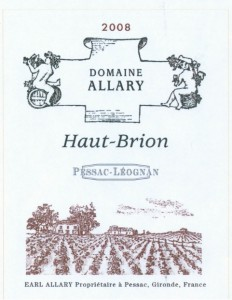 allary pessac leognan 232x300 Domaine Allary Haut Brion Pessac Leognan Bordeaux Wine, Complete Guide