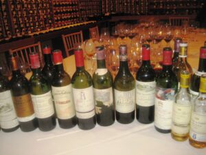 7 Blind decades bottles 300x225 7 Blind Men tastes 7 decades of Bordeaux wine from the 20s 80s!