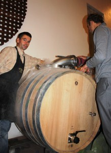 Beau Sejour Becot new barrels 218x300 2010 Beau Sejour Becot Harvest, Juliette Becot tries something new!