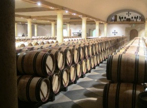 2010 HB April Barrel Cellars 300x221 2010 Haut Brion Red and White Wine Flirts with Perfection in Bordeaux
