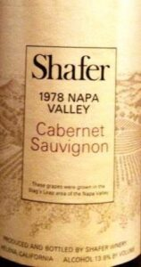 Shafer Cabernet 19781 158x300 Shafer Vineyards Napa California Cabernet Sauvignon Merlot Chardonnay