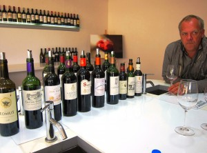 Stephane Derenoncourt wine tasting 300x222 Left Bank 2009 Bordeaux Value Wines from Stephane Derenoncourt