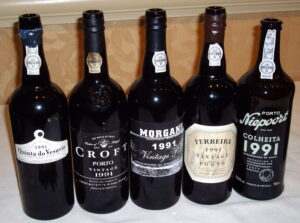 91 port bottles 1 300x223 1991 Vintage Port Blind Tasting with Roy Hersh