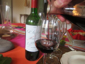 Chateau Lafleur Wine at lunch 300x225 Lafleur Pomerol Tasting, 1989 2010 with Jacques Guinaudeau