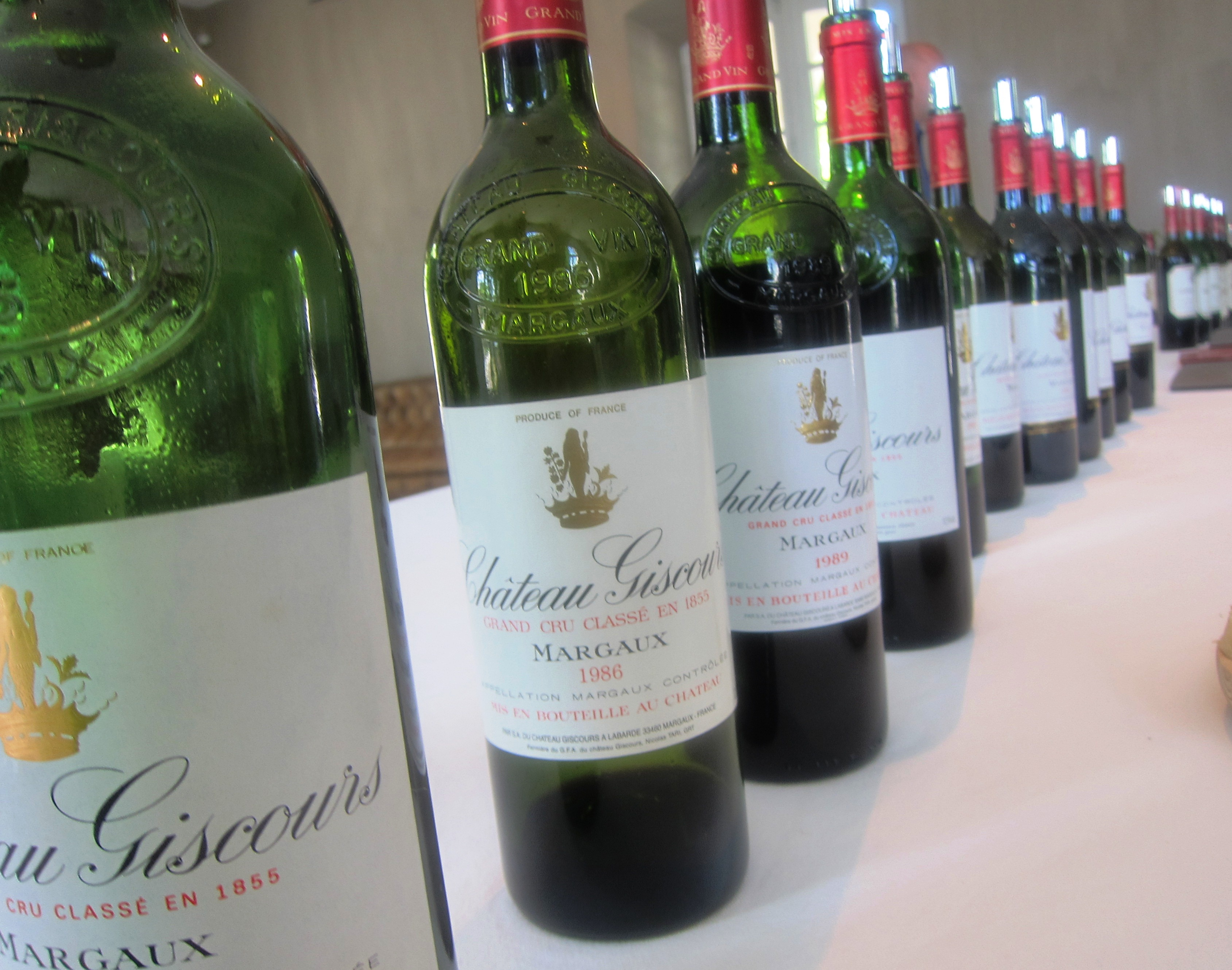 Giscours Margaux 5 Decades of Bordeaux Wine Tasted 1961-2010