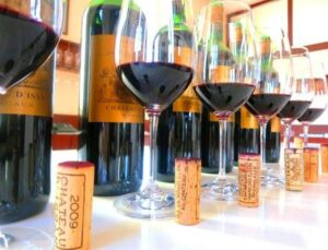 dIssan Vertical 300x229 Chateau d'Issan Wine Tasting with Emmanuel Cruse, Marie Helene Dussech