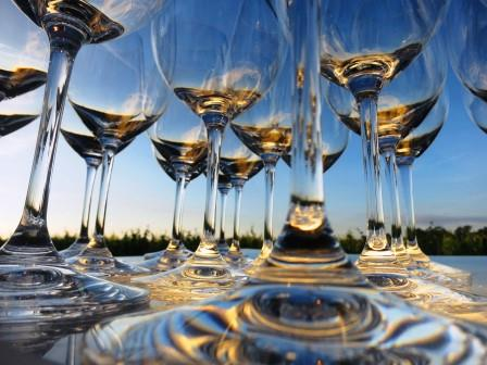 Bordeaux Glasses sunny blue sky 1989 Bordeaux Wine Buying Guide Tips on Best Value Wines