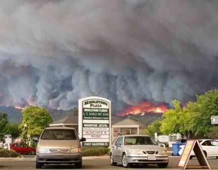 Napa Valley Lake County Fire Napa Valley Fires Raging, Governor Declares State of Emergency
